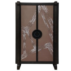 High Cabinet with De Gournay Covering Art Déco Garden André Fu Living Storage