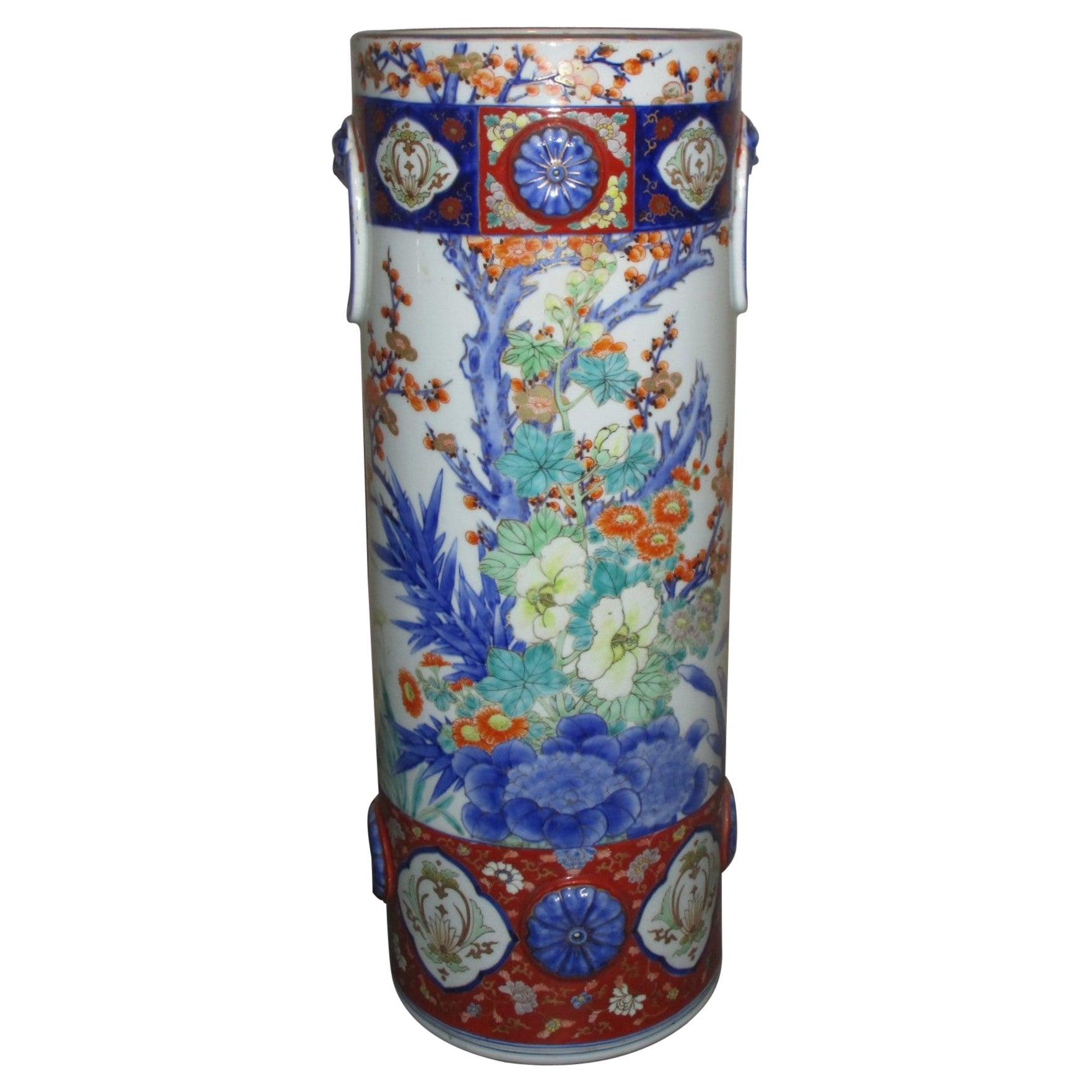 Japanese Meiji Period Fukagawa Imari Porcelain Vase, circa 1880