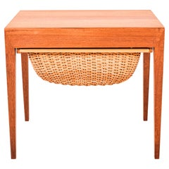 1960's Teak Sewing Table by Severin Hansen for Haslev