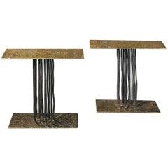Pluie Tables by Anne and Vincent Corbière