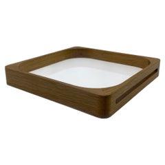 Small Oak Square Tray White, in Stock