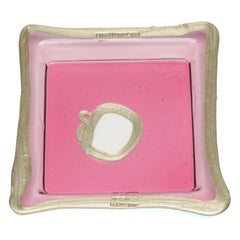 Try-Tray Medium Square Tray in Clear Fuchsia Pink, Bronze by Gaetano Pesce