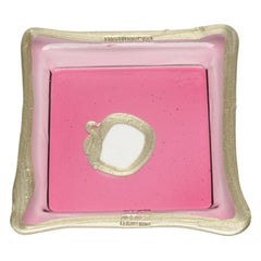 Try-Tray Large Square Tray in Clear Fuchsia Pink, Bronze by Gaetano Pesce