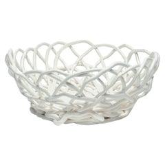 Tutti Frutti II Large Resin Basket in Matt White by Gaetano Pesce