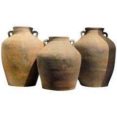 19th Century Terra Cotta Food Vessel Pots, China