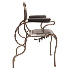 Iron and Stainless Steel Dentist Armchair, USA, 1930