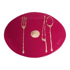 Set of 4 Table Mates Placemats in Matt Cherry and Bronze by Gaetano Pesce