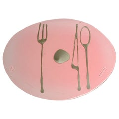 Set of 4 Table Mates Placemats in Clear Pink and Bronze by Gaetano Pesce