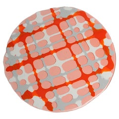 Set of 4 Tartan Placemats Light Ruby, Matt Grey, Orange, White by Paola Navone