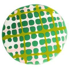 Set of 4 Tartan Placemats Green, Matt Green, Pink, White by Paola Navone