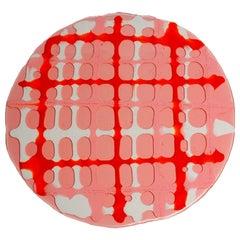 Set of 4 Tartan Placemats Light Pink, Matt Pink, Orange, White by Paola Navone