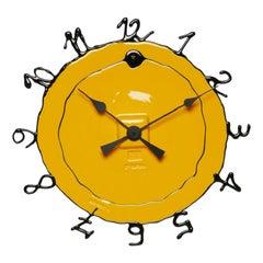 Round the Clock, Large in Matt Yellow and Black by Gaetano Pesce