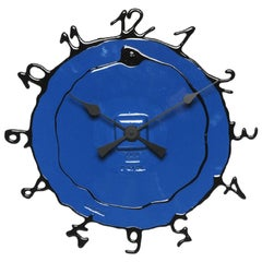 Round the Clock, Large in Matt Blue and Black by Gaetano Pesce