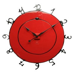 Round the Clock, Large in Matt Red and Black by Gaetano Pesce