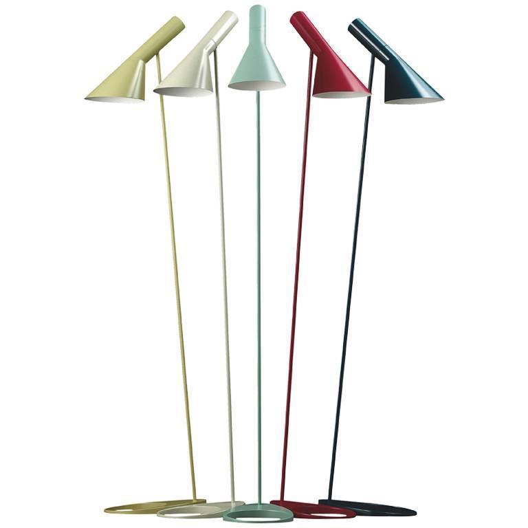 aj floor lamp jacobsen aj floor lamp by arne jacobsen for louis poulsen for sale at 1stdibs