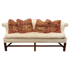 Chippendale Style Camelback Sofa with a Single Seat Cushion, 20th Century