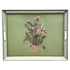 Vintage Galleried Tole Serving Tray