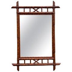 Burnt Bamboo Mirror