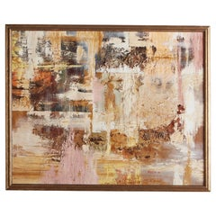Mid Century Abstract Painting by Edelson, 1967