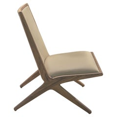 Walnut Structure Kaya Lounge Chair by LK Edition