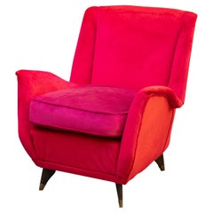 ISA Bergamo Longe Easy Chairs, Italy, 1950s