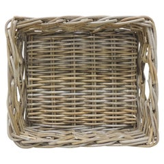 Rectangular Willow Basket with Handles