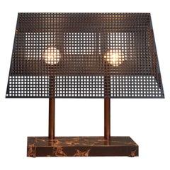 Unique Trapèze Table Lamp Marble Base by Koen Van Guijze