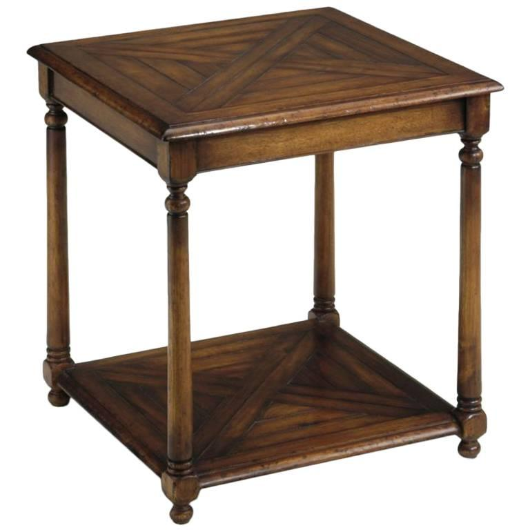 Pair Of Parquet Top Sides Tables By Lane At 1stdibs