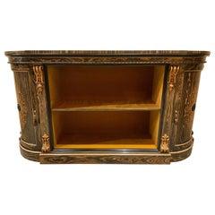 French Credenza / Sideboard, Calamander Wood and Satin Wood Inlay, Circa 1890