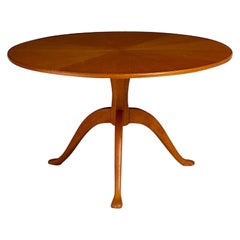 Stamped Carl Malmsten Sculpted Round Table