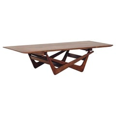 Dining and Tea Table in Rosewood by Martin Eisler, Brazilian Midcentury, 1950s