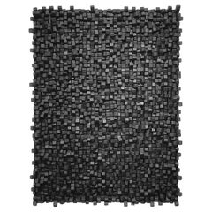Charcoal Wall Sculpture by Belgian Artist Guy Leclef, Belgium, Contemporary