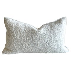 Custom Linen and Wool Blend Accent Lumbar Pillow