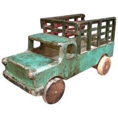 Antique Wooden Toy Truck