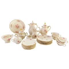 Rosenthal Kronach Viktoria German Porcelain Floral Design Coffee Set, 27 Pieces