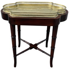 Antique Brass Galleried Tray Table