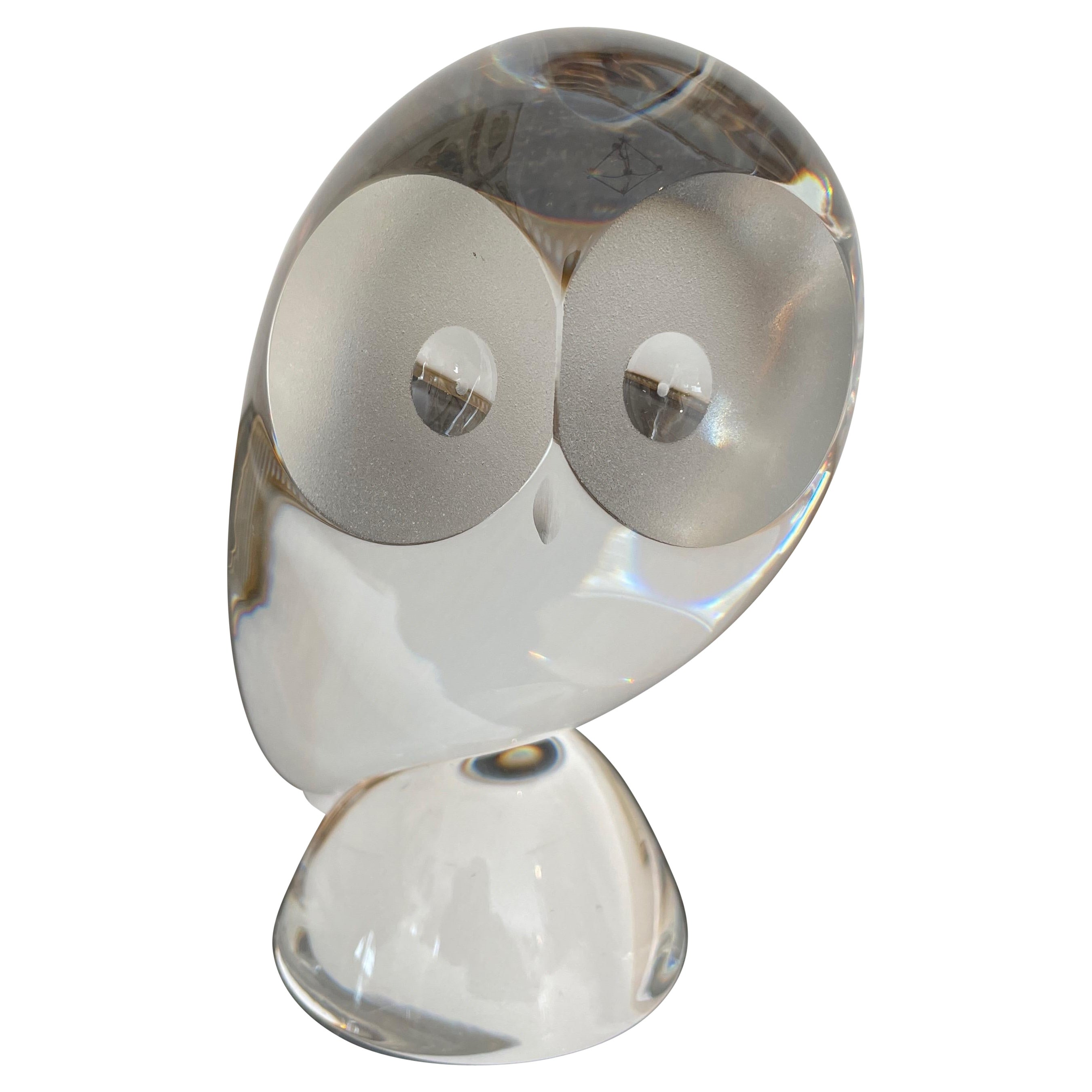 Crystal Abstract Owl by Steuben