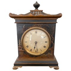 Antique Chinoiserie Pagoda Style Clock
