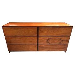 Vintage Six Drawer Rosewood Dresser