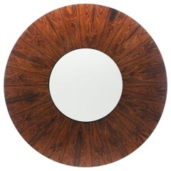 Milo Baughman Rosewood and White Lazy Susan Coffee Table circa 1960