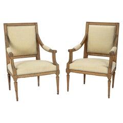 Pair of Neoclassical Swedish Armchairs