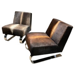 Jiun Ho Collection Two St. Cere Lounge Chairs Edgy Modern San Francisco Design