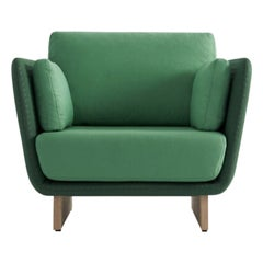 Swan Armchair with Wooden Legs by Pepe Albargues