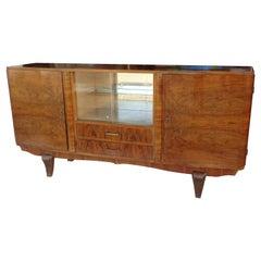 Vintage Art Deco Burl Cocktail Cabinet