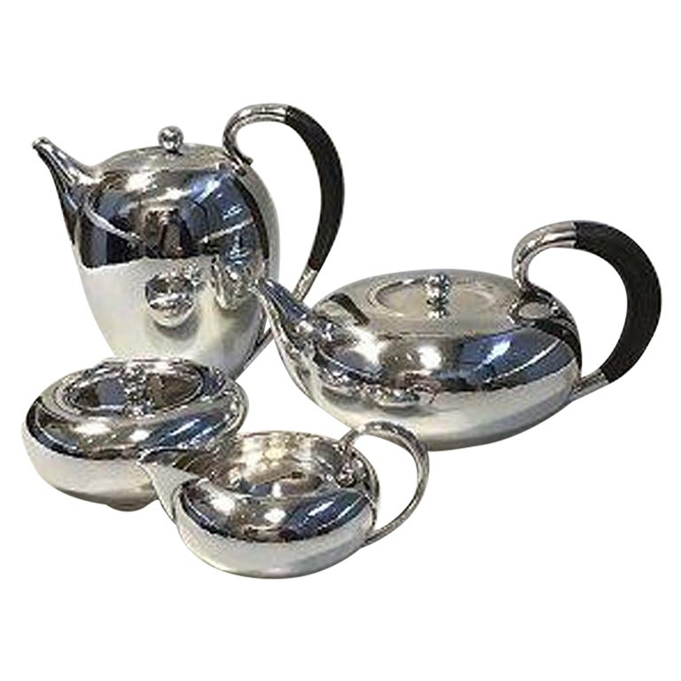 Georg Jensen Sterling Silver Coffee-Tea Set No 787