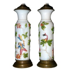 Chinoiserie Molded Glass Table Lamps