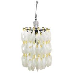 Mid-Century Vistosi Glass Chandelier Made of Modular Elements 1960s Italy