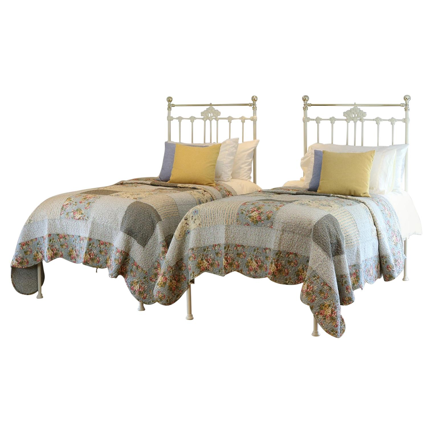 Matching Pair of Victorian Antique Beds MPS44