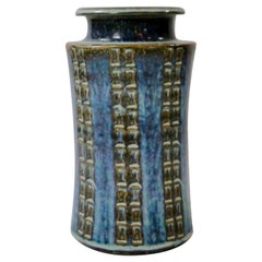 Glazed Ceramic Vase by Søholm Stentøj, Denmark, 1960s