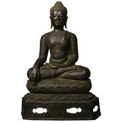 15th Century Northern Thai Bronze Buddha Masterpiece w Provenance - 9200